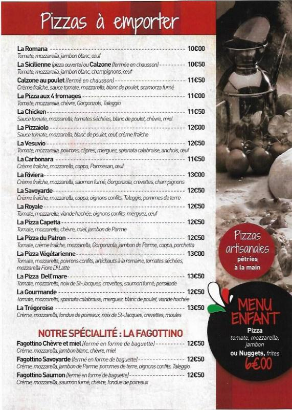Flyer pizza à emporter